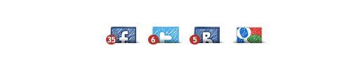 Корпоративный блог кнопки шэринга